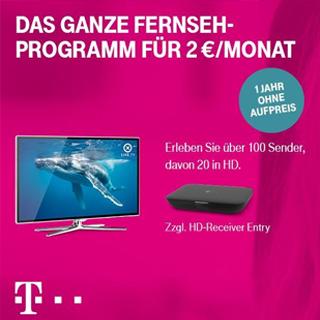 Entertain zum Ausprobieren: Telekom Start TV für 2€/Monat buchbar