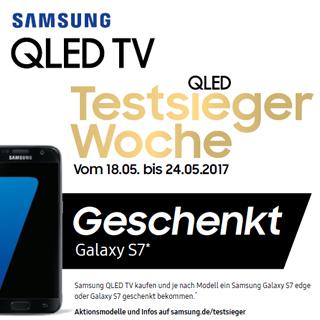 Samsung QLED TV kaufen und je nach Modell ein Samsung Galaxy S7 edge oder Galaxy S7 geschenkt bekommen.