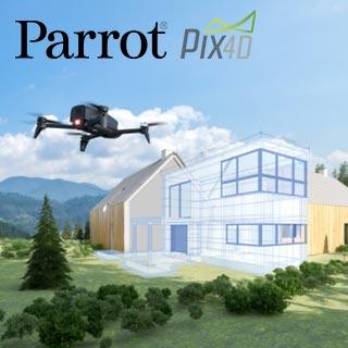 3D Visualisierung Parrot Bebop-Pro | Wensauer Com-Systeme GmbH