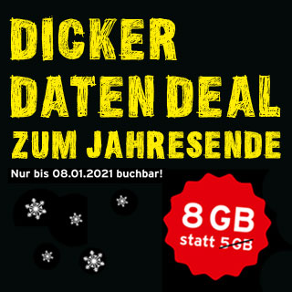 congstar Winteraktion Dicker Daten Deal