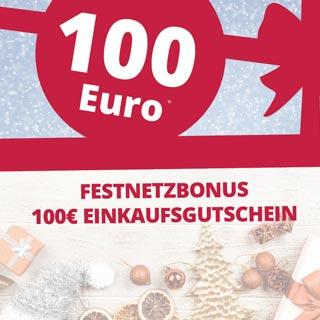 Sichern Sie sich bei Festnetz-Neuverträgen einen 100€ Einkaufsgutschein