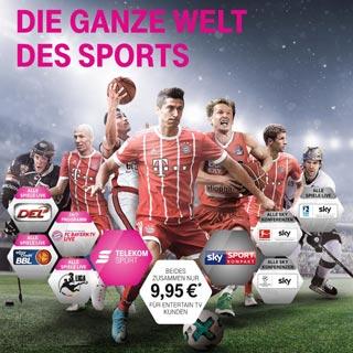 Neu ab August 2017: Telekom Sport mit Sky Sport Kompakt